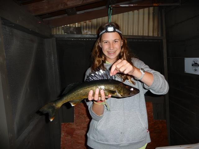 Fishing on the Pickerel River at Pine Grove Resort Cottages